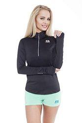 FA WEAR Lange mouwen Run Sweatshirt, Zwart, L