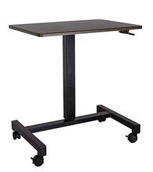 YULUKIA 100001B Air Lift Höhenverstellbarer Schreibtisch, Gaming Tisch, Workstation, Walnut
