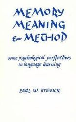 Memory, Meaning and Method