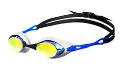 ARENA Cobra Mirror Gafas de Natación, Unisex Adulto, Azul/Naranja, Universal