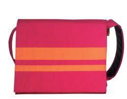 BagyMANIA Courierbag YB 190020 nylon, ca. 38 x 34 cm roze/oranje.