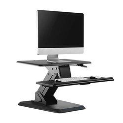 Soporte mesa escritorio Maclean MC-792 soporte de escritorio para pantalla, monitor o laptop, Capacidad de carga: 15 kg máx, para trabajar sentado o de pié sit-stand oficina hogar negocio.