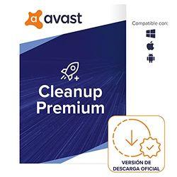 Avast Cleanup Premium - Elimina los archivos no deseados y acelera el sistema operativo   10 Dispositivo   1 Año   PC/Mac   Código de activación enviado por email