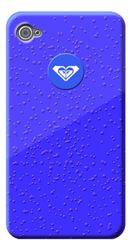 Roxy Cover voor Apple iPhone 4/4S - Regendruppels Blauw