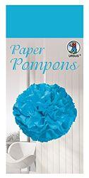 Paper Pompons, tissuepapier, 50 x 70 cm, 10 vellen in de kleur middenblauw