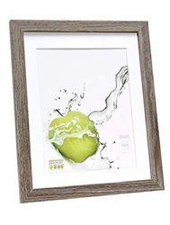 Deknudt Frames S66KH3P1_18,0x24,0 - Marco de Fotos (Madera, 18 x 24 cm, 13 x 18 cm), Color Gris