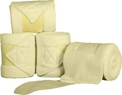 HKM 5121 polarfleece bandages, polarfleece bandages extra dik, 200 cm 300 cm 4 st, Polarfleece bandages, 300 cm, lemon
