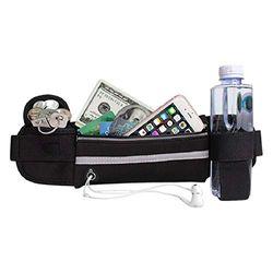 Sport-Gürtel mit Wasserflasche, mit elastischem Band, passend für alle Taillengrößen, für iPhone 11 Pro Max, Fitness, Wandern, Reisen – wasserabweisend