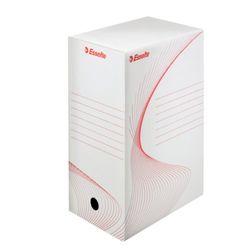Esselte 128910 Archiv-Container Standard für Schachteln, weiß/rot