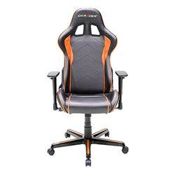 DXRacer OH/FL08/NO F08-NO Stuhl, Polyurethan, Schwarz/Orange, M