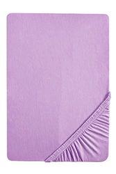 biberna 0002744 Fijn bever hoeslaken (matrashoogte max. 22 cm) (katoen) 90x190 cm >100x200 cm, altviool
