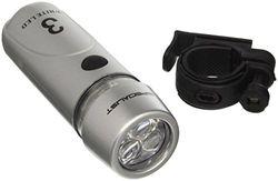 3 LED-koplampen, zilver
