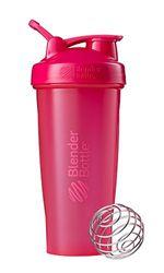 BlenderBottle Classic Loop - Botella Mezcladora de Batidos de proteínas con batidor Blenderball, Rosa (Pink), 820ml