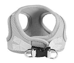 Hip Doggie HD-6EZMGY-L Sport Mesh Gray EZ Reflective Harness Vest L Hundegeschirr