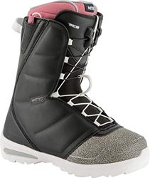 Nitro Snowboards Damen Flora TLS '19 Snowboardschuhe, Black/Pink, 27.5