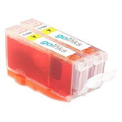Go Inks c-cli526y-2 Gelb Tintenpatronen ersetzen CLI-526Y Kompatibel zur verwendung mit PIXMA Drucker (2 Tinten)
