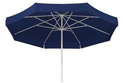 Best Großschirm Ibiza, blau, 400x400 cm rund, Gestell Stahl, Bespannung Polyester, 14 kg