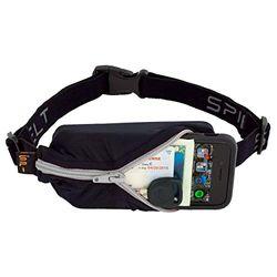 Spibelt: Das Original No-Bounce Laufgürtel für Läufer, Sportler und Abenteurer (schwarz mit Titan-Reißverschluss)