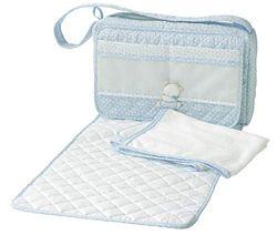 Filet Nursery - Bolso cambiador con toalla, color azul