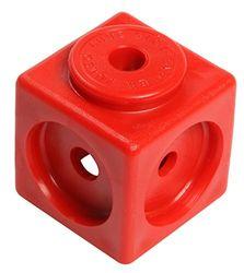 Unbekannt 170100 100 Steckwürfel, Kantenlänge 1.7 cm, rot