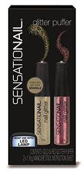 Sensationail Glitter Puffer Gold / Red 2X1.8, 29 G