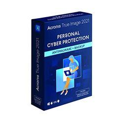 Acronis True Image 2021   1 PC/Mac   Eeuwigdurende licentie   Persoonlijke cyberbeveiliging   Geïntegreerde back-up en antivirus   Onbeperkt aantal Android- / iOS-apparaten   Box-versie