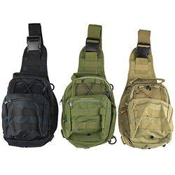 Reliant Outdoor Große verstellbare Sling Bag für Damen und Herren mit Reißverschlusstaschen, perfekt zum Wandern, Reisen, Laufen und Radfahren – Vielfalt (3 Stück)
