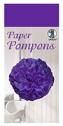 Paper Pompons, zijdepapier, 50 x 70 cm, 10 vellen in de kleur paars