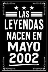 Las Leyendas Nacen En Mayo 2002: Cuaderno de notas I Matriz de puntos (dotted) I 120 páginas I Un regalo ideal para colegas, familiares y amigos