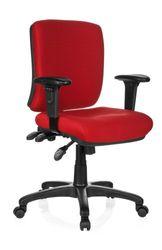 hjh OFFICE 702220 Bürostuhl Zenit Base Stoff Rot Drehstuhl ergonomisch, niedrige Rückenlehne & Armlehne verstellbar