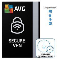 AVG Secure VPN - Conexión Privada Virtual para proteger la privacidad   5 Dispositivo   1 Año   PC/Mac   Código de activación enviado por email
