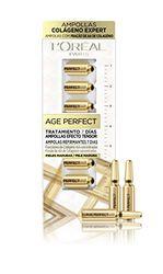 L'Oréal Paris Ampollas Age Perfect Colágeno Expert Tratamiento Reafirmante 7 Días, Blanco/Dorado, 40 Gramos