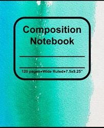 Composition Notebook Rainbow Painting Pattern