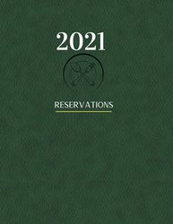 Restaurant Reservation Book 2021: Reservation book for restaurant 2021 | 365 Day Table Reservations | leather journal | restaurant reservations book | restaurant diary