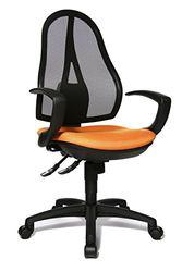 Topstar OP20QG04 Open Point SY, Bürostuhl, Schreibtischstuhl, ergonomisch, inkl. Armlehnen, Stoffbezug, orange