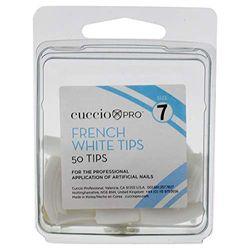 Cuccio French Manicure I0099235 Spitzen, Größe 7, Weiß, 50 Stück