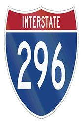 Interstate 296: 6x9 College Ruled Line Paper 150 Pages