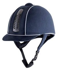 Rhinegold 0 Reflective Pro Riding Hat-7.1/8-Navy Reithelm, Navy, 7. 1/8""