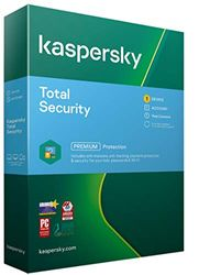Kaspersky Total Security 2021 | 1 Apparaat | 1 Jaar | Antivirus, Secure VPN en Password Manager inbegrepen | PC/Mac/Android | Activeringscode per Post