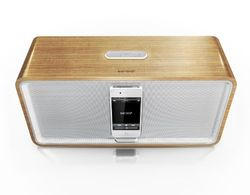 sonoro Stereo iPod/iPhone Docking Station cuboDock bamboe/wit
