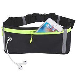 Obling Laufgürtel, für Damen und Herren, wasserabweisend, für Wandern, Fitness, Reisen – verstellbare Tasche zum Laufen, Handyhalterung, Zubehör für alle Handys unter 6,5 – Schwarz, grau, Grey