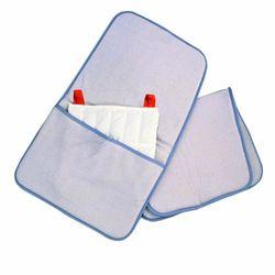 Badstofhoes met zak voor warmtekussens (standaard) en warme compressen, 51 x 61 x 2,5 cm