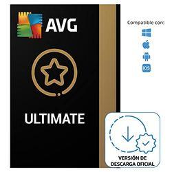 AVG Ultimate - Antivirus con AVG Secure VPN y AVG TuneUp para agilizar su PC - Para descargar   10 Dispositivo   1 Año   PC/Mac   Código de activación enviado por email