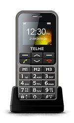 Emporia TELME C151 Grote handy MicroUSB kleurendisplay noodoproepfunctie 3 sneltoetsen Bluetooth FM-radio tafellaadstation, Single, spacegrijs