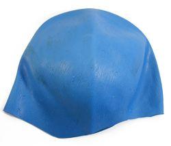Fripac-Medis Rubberen haarkap met kruisgaten van siliconenrubber, blauw