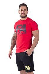 FA WEAR Heren T-shirt - Basic - Rood - S