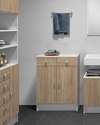 Symbiosis Variety Junior Toilettenschrank, Chene Naturel/Blanc, 60x29,6x81,5 cm