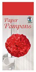 Paper Pompons, zijdepapier, 50 x 70 cm, 10 vellen in de kleur lichtrood