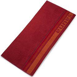 CelinaTex Stripes saunahanddoek 80 x 200 cm rood katoen badhanddoek badstof handdoek badhanddoek badhanddoek staande laken