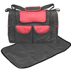 BAMBISOL SMFW - Bolsa de bebé con bolsillo térmico, color negro y rojo